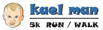 Kael man 5k run/walk logo image.